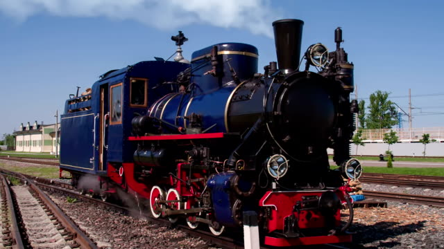 Steam Locomotive on the Siding video