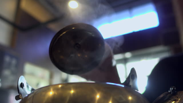 steam of hot tea in kettle - teapot stock videos & royalty-free footage