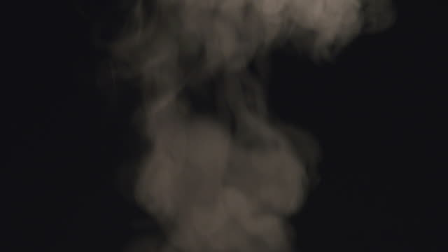 Steam on a black background video
