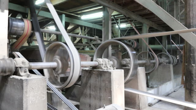steam power engine working in old factory video