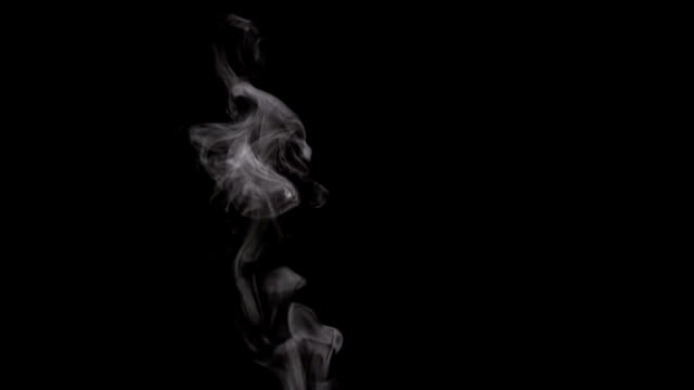 Steam Rises From the Cup White smoke on black background. Motion at a rate of 240 fps steam stock videos & royalty-free footage
