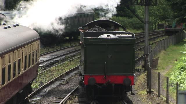 Steam train aerial shot video