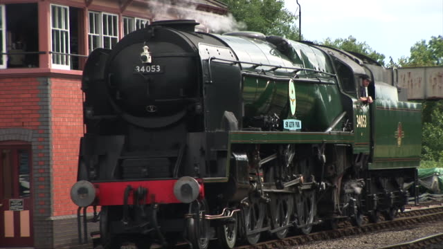 Steam train coming into station video
