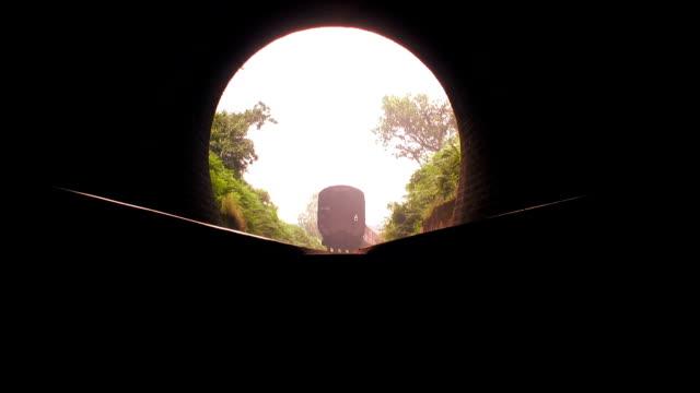 Steam train Leaving Tunnel video