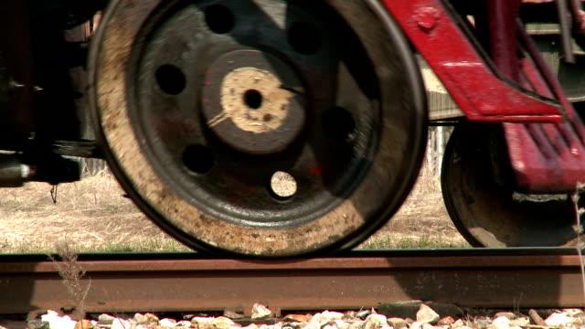 Steam train wheels video