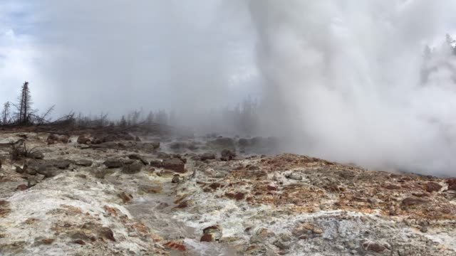 Steamboat erupting in august 2019 video