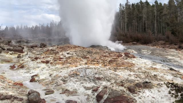Steamboat erupting in Yellowstone 2019 video