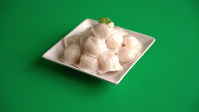 Steamed shrimp dumplings dim sum video