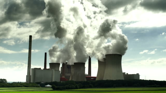 Steaming Coal Power Station video