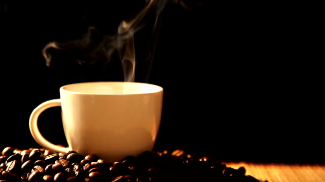 Steaming coffee video