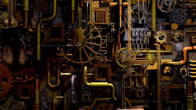 Steam-punk factory video