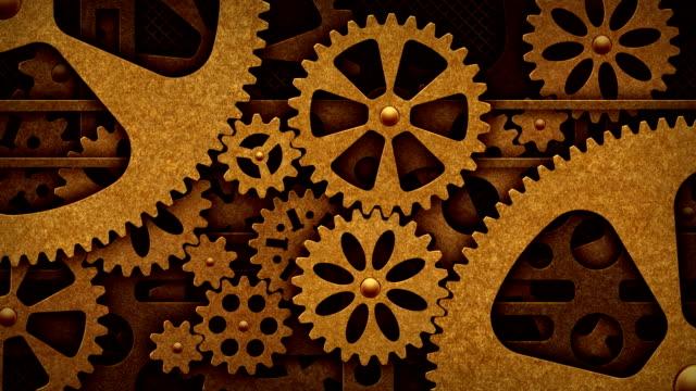 Steampunk gears video