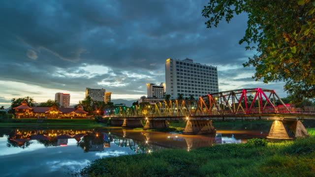 Steel Bridge in Chiang mai Thailand video