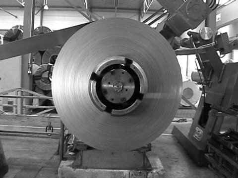 Steel Coil, metal factory video