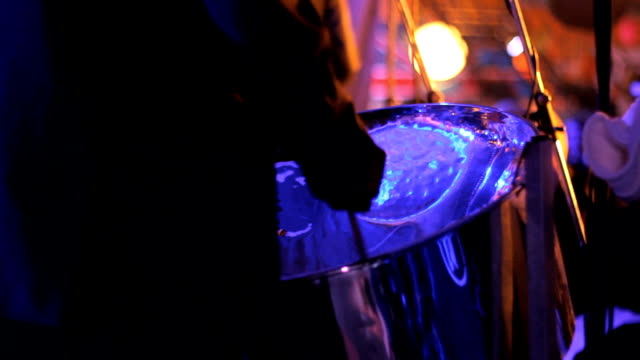Steel Drum player on stage