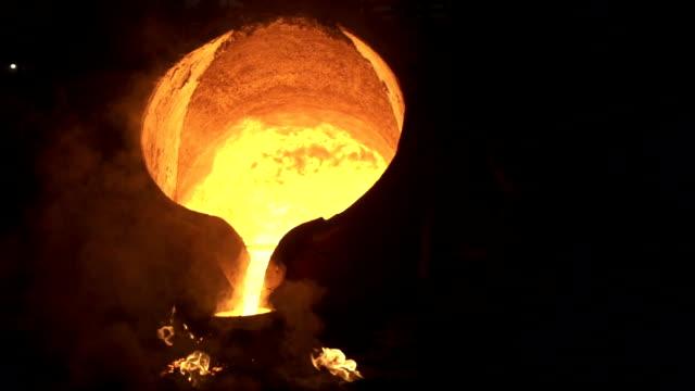 Steel industry molten metal Steel industry molten metal slow motion filmed at 200 fps steel mill stock videos & royalty-free footage