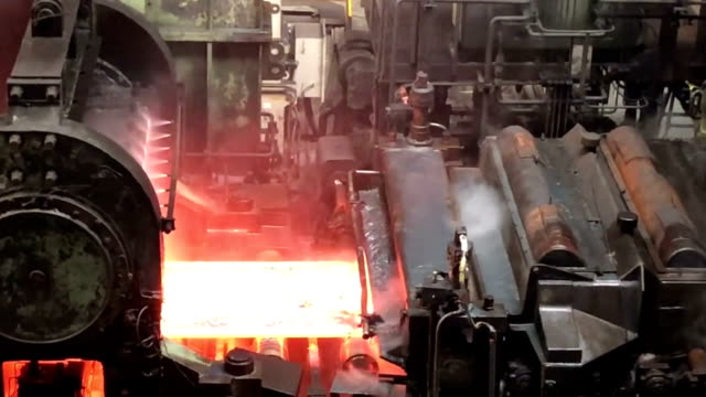 Steel mill background Steel mill background foundry stock videos & royalty-free footage