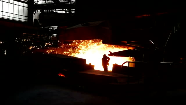 Steel mill background Steel mill background metallurgy stock videos & royalty-free footage