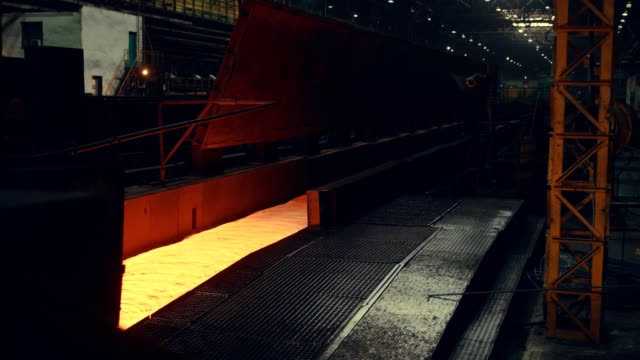 steel mill - steel wire - spranga video stock e b–roll