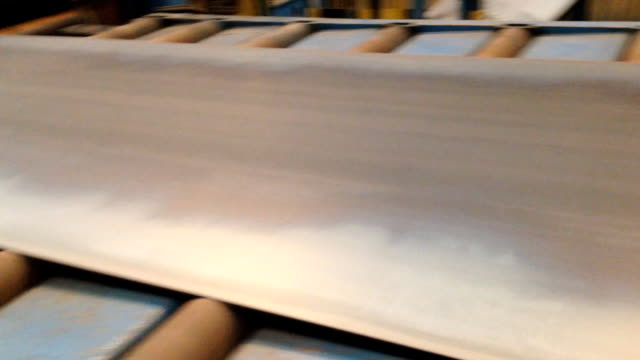 Steel plate rolling video