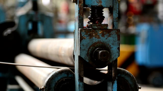 Steel rolling machine. video