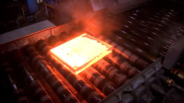 Steel rolling mill. KREMENCHUG, UKRAINE - AUGUST 23, 2012: Production at the Kremenchug steel mill. foundry stock videos & royalty-free footage