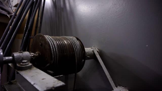 Steel wire rope wound on winch drum video