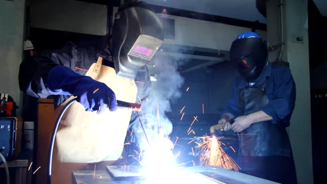 Steel Worker in Metal Industry video