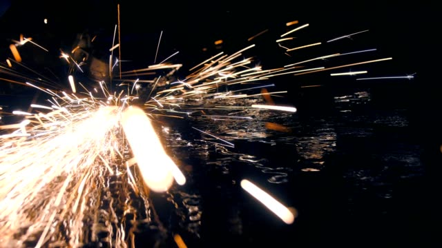 Steel workshop with sparks Steel workshop with sparks power tool stock videos & royalty-free footage