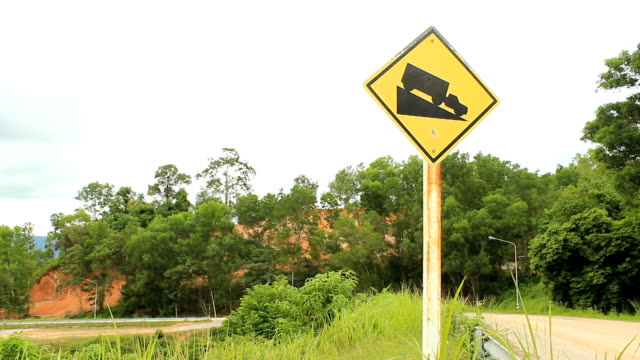 Steep hill sign video