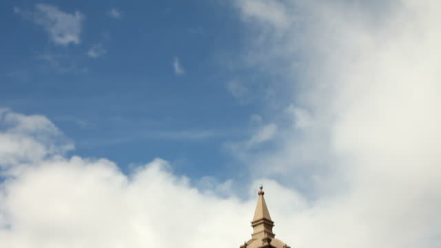 Steeple of the cathedral in Ayacucho video