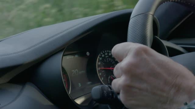 Steering Wheel Close-up of steering wheel whilst driving wheel stock videos & royalty-free footage