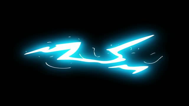 3ステップ高速撮影スパーク電気漫画アニメーション39 - フレーム点の映像素材/bロール