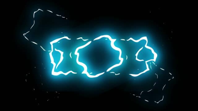 3ステップ左右スライド雷電気漫画アニメーション40 - フレーム点の映像素材/bロール