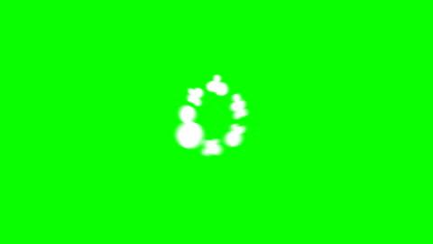 9 step smoke rising above 2d cartoon fx 4k animazione, chiave cromatica (bursts and puff) - animazione video stock e b–roll