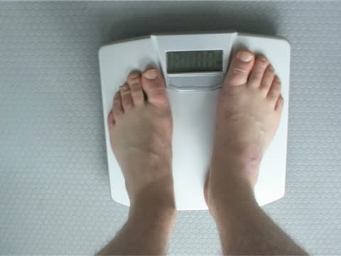 Stepping onto scale