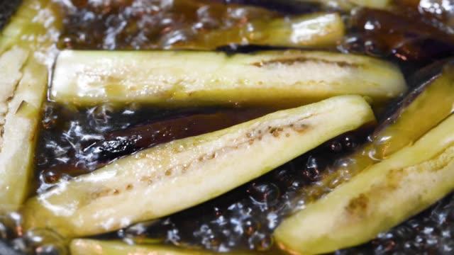 stewing eggplant - melanzane video stock e b–roll