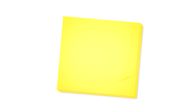 Sticky notes with matte video