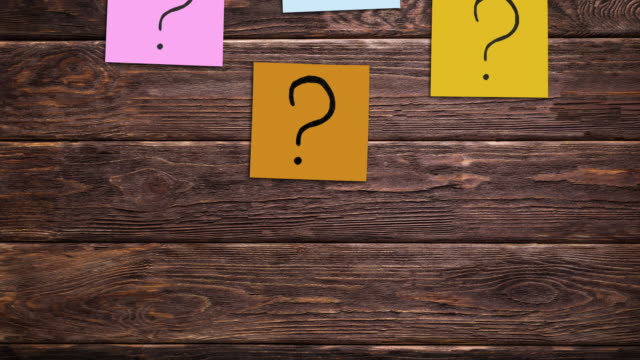 Sticky notes with question marks. Survey, animation. Sticky notes with question marks. faq stock videos & royalty-free footage