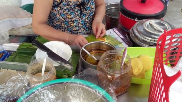 sticky rice (xoi ) for breakfast in Vietnam