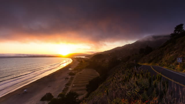 Stinson Beach Sunset - Time Lapse video