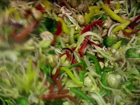 stir fry in a catering kitchen - böngrodd bildbanksvideor och videomaterial från bakom kulisserna