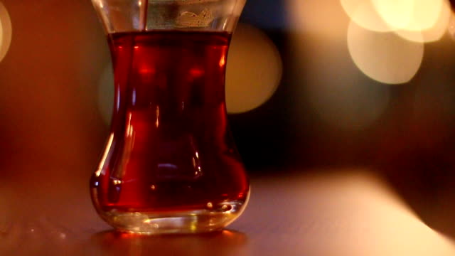 Stirring A Cup Of Traditional Turkish Tea video