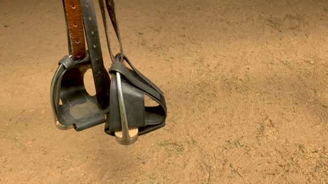 Stirrups With Toe Stoppers Used for Horse Riding