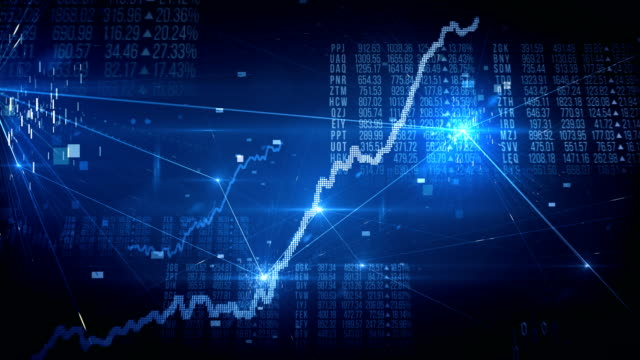 Stock Exchange Bull Market (Blue) - Loop