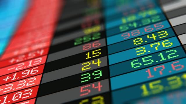 Stock exchange market trade data video