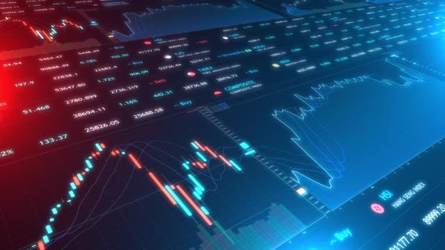 Stock Marke Financial trading chart