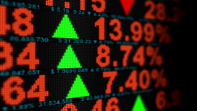 Stock Market Animation - HD, Loop video