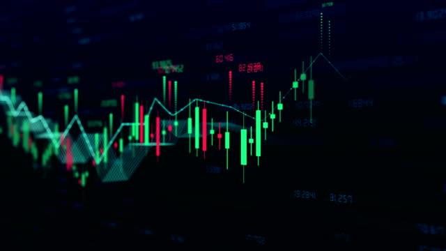 vídeos y material grabado en eventos de stock de stock market bar graph trading 4k - tabla medios visuales