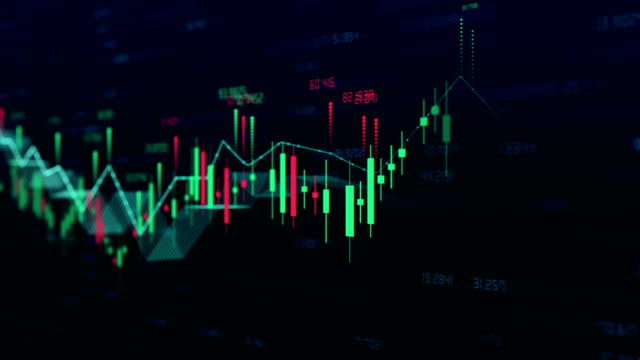 stockvideo's en b-roll-footage met stock market bar grafiek handel 4k - visuele hulpmiddelen